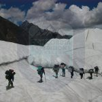 Porters Marching to k2 Base camp Concordia