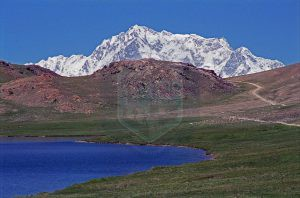 Nanga Parbat Rupal Face Above Sheosar Lake On The Deosai Plains