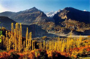 Hunza Valley In Autum season