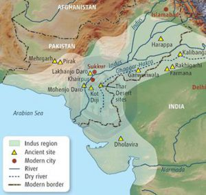 Indus civilization map