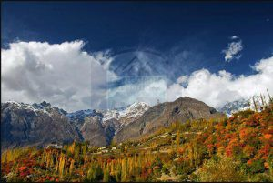 Hunza Valley in Autumn season
