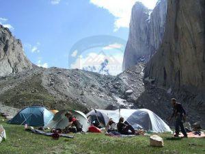 Camp site under the base of Amin Barkk