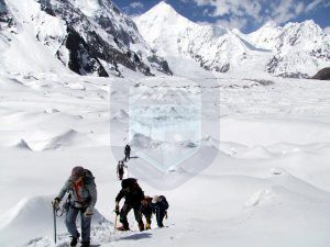 Climbers Ascending Chogolisa