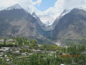 Diran Peak View from Hunza Karimabad