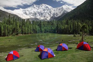 Nanga Parbat View from camp at fairy meadows