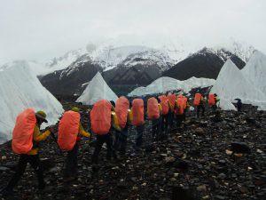 Heading towards Goro-II on Baltoro Glacier