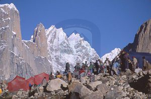 Urdukas camp site on Baltoro Glacier