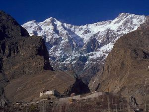 Ultar Peak View from Karimabad and Baltit Fort Also seen
