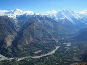 Fantastic an Arial View of Hunza Valley
