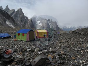 Camp site on Baltoro trekking